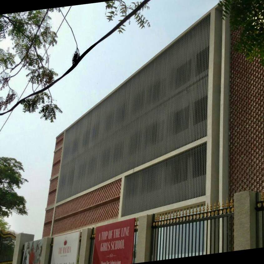 Facade- Aluminium fills louvers - Maurya girls school